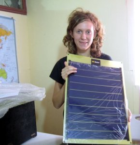 Solar panels donated by Child in Hand