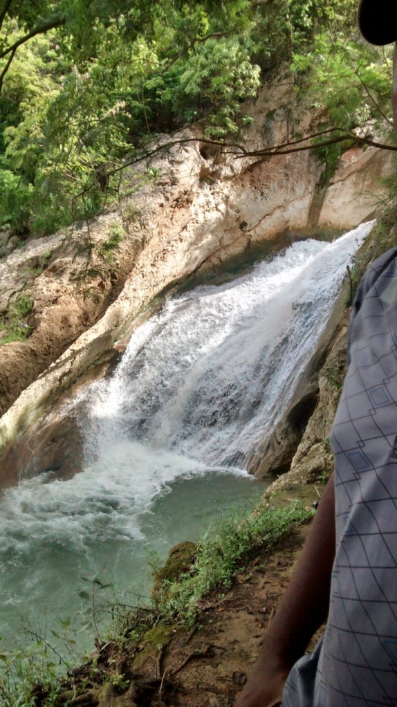 Upper section of the waterfall.
