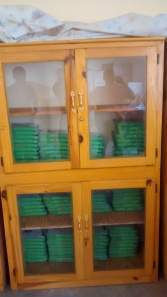 The national school has cabinets like this one that are filled with laptops.